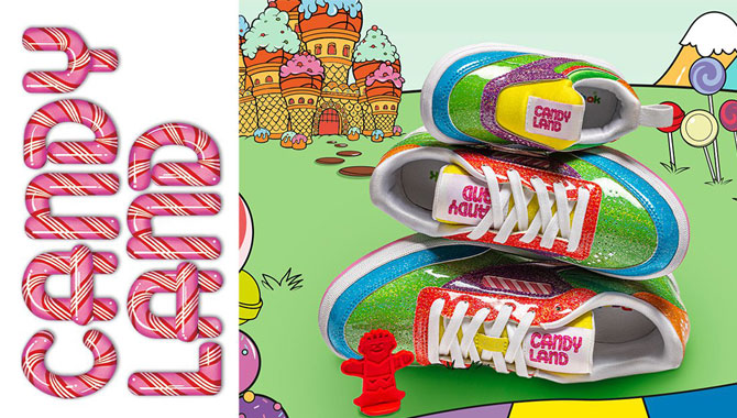 Reebok, Hasbro, Candy Land